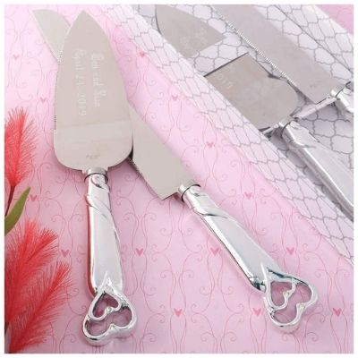 The Gifts Infinity Silver Cake Knife and Server Set