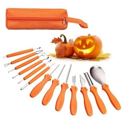 CDLong 14PCS Halloween Pumpkin Carving Knife