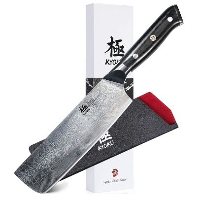 Kyoku Daimyo Series Damascus Nakiri Knife