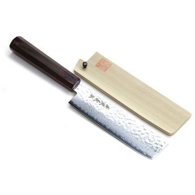 Yoshihiro 46 Layers Damascus Usuba Nakiri Knife