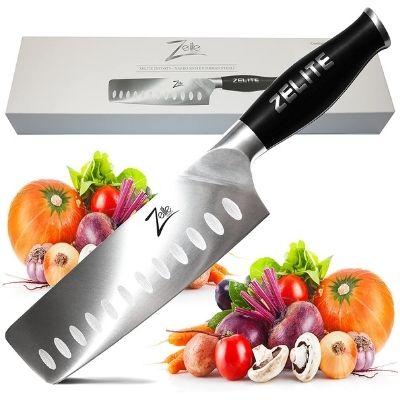 Zelite Infinity 7 Inch Granton Edge Nakiri Knife