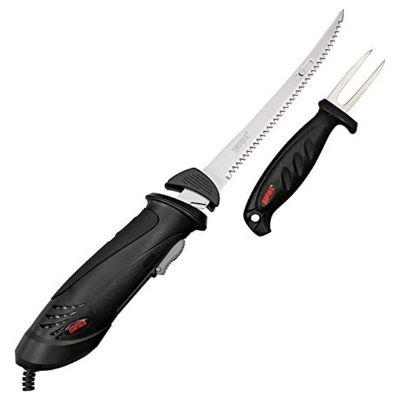 Rapala Black Electric Fillet Knife With Fork