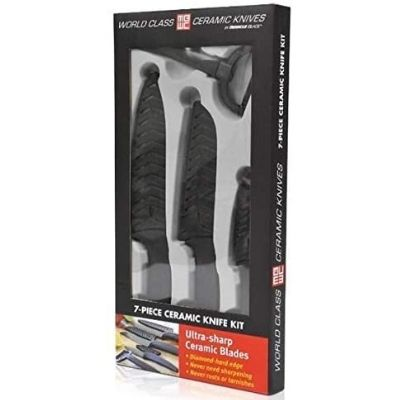 Miracle Blade Black 7-piece Ceramic Knife Set