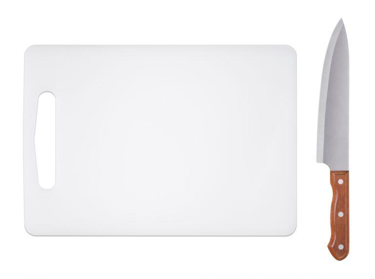 White Plastic Cutting Board Care